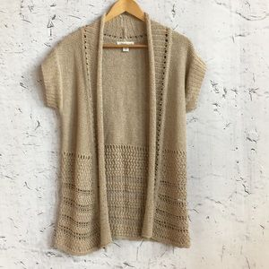 COLDWATER CREEK TAN CARDIGAN XXS 2